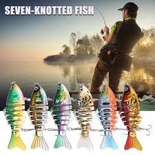 NEW <b>7</b> Segment Swimbait Lures Fishing Bait <b>Fish</b> Lure Crankbait ...