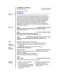 resume template microsoft word resume templates  resume   sample microsoft word resume template master of business administration financial analysis education