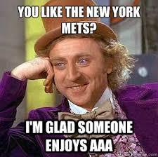 You like the new york mets? I'm glad someone enjoys AAA ... via Relatably.com