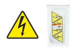 """<b>Знаки электробезопасности Tdm</b> Символ """"Молния"""" (треугольник ..."""