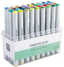 <b>Finecolour Junior</b> набор спиртовых <b>маркеров</b> 36 цветов в ...
