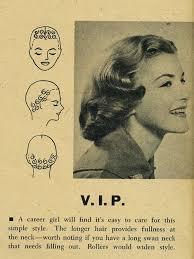 vintage curls 1950s 1958 vintage style pin curls vintage ... via Relatably.com
