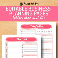 direct sales planner a5 business planner printable business plan editable direct sales printable a5 letter size instant download bussiness planner