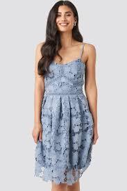 <b>Lace Strap Dress</b> Blue | na-kd.com