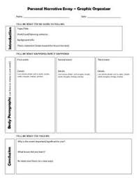 writing graphic organizers graphic organizers and pandora on  personal narrative graphic organizer  personal narrative essay graphic organizer   sharepdfnet