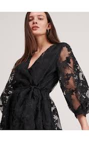 <b>Платье</b> из <b>сетки</b> с цветочным принтом, RESERVED, ZV764-99X