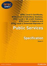 BTEC Level   Public Services specification