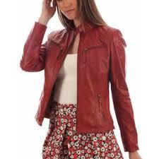 HugMe.fashion <b>Genuine Leather Women</b> Party Night Jacket LJK8