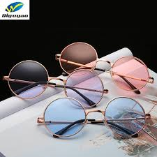 <b>DIGUYAO</b> Vintage classic <b>Multicolour</b> Round Sunglasses <b>Women</b> ...