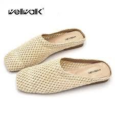 <b>Wellwalk</b> Straw <b>Shoes</b> Slippers <b>Woman</b> Mule <b>Shoe Women</b> Slip On ...