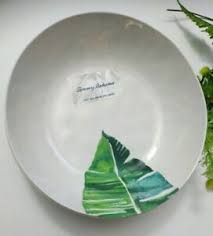<b>set</b> of 4 <b>Tommy Bahama</b> Tropical Leaves Melamine Salad Bowls ...