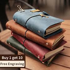 <b>Handmade 100</b>% <b>Vintage Leather</b> Traveler Notebook caderno Diary ...
