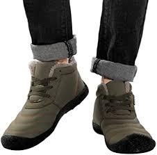 Mens Winter Waterproof Flat Snow Boots Anti-Slip ... - Amazon.com