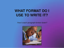 Writing an argumentative essay    WHAT FORMAT DO