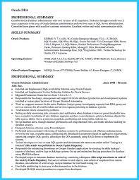 high impact database administrator resume to get noticed easily junior database administrator resume