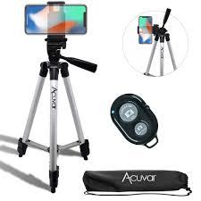 "Acuvar 50"" Inch Aluminum Camera <b>Tripod with</b> Universal ..."