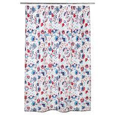 КРАТТЕН <b>Штора для ванной</b>, белый, разноцветный - IKEA