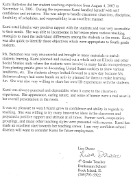letter of recommendation for elementary school student letter