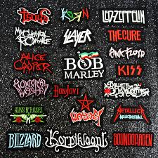 Metal <b>Patch Rock Band Patches</b> For Clothing Iron On <b>Patches</b> Music ...