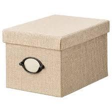 <b>KVARNVIK КВАРНВИК</b> Коробка с крышкой, бежевый, 18x25x15 ...