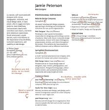 exercise resume attend to the details typographic web design  i ve marked up my numbers they re old style and don