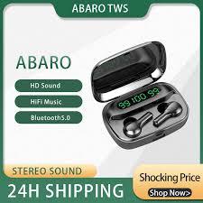 Abaro <b>R3 TWS Wireless</b> Bluetooth Earphone Headphones Tap ...