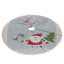 Zouxab <b>Christmas</b> Tree Skirt <b>Santa</b> Claus in <b>Glass</b> Globe <b>Print</b> ...