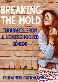 breaking the mold thoughts from a homeschooled senior true aim breaking the mold