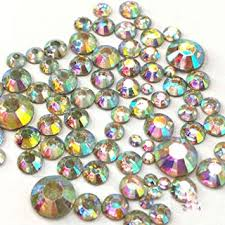 400 pcs 2mm - 6mm Resin Crystal <b>AB</b> round Rhinestones <b>Flatback</b> ...