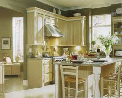 painted kitchen cabinets vintage cream: image of luxurious cream kitchen cabinets with light floors