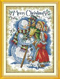 nkf cross stitch kits nkf embroidery dmc 14ct 11ct print canvas hand sew cross stitching diy handmade needlework