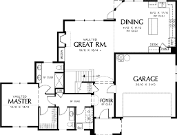 Rural French Home Plan   Vaulted Great Room   AM   st    Floor Plan