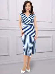 Купить <b>Платье Секрет стройности</b> Charutti , цвет: Синий с ...