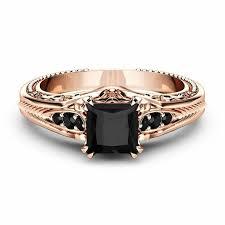 <b>Fashion</b> 925 <b>Silver</b> Inlaid Black <b>Square Diamond</b> Princess Ring ...