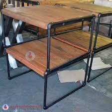 next black iron pipe table