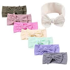 Amazon.com: <b>Baby</b> Girl Nylon <b>Headbands</b> Newborn Infant Toddler ...