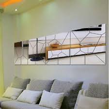 <b>7PCS</b> DIY <b>Mirror</b> Moire Pattern Home Decor Mural Art Decal <b>Wall</b> ...