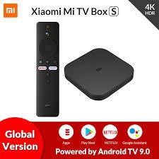 Original Global <b>Xiaomi Mi TV Box</b> S 4K Ultra HD Android <b>TV</b> 9.0 ...
