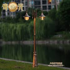 europe vintage garden outdoor lights fixture e27 led pole light garden path tall column waterproof antique courtyard outdoor lighting 1