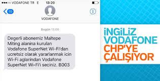 Vodafone CHP mitingine ücretsiz internet sağlıyor