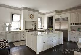 kitchen moldings: amazing kitchen with light gray walls paired with gray crown moldings