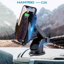 HAMTOD C20 <b>15W</b> Qi <b>Car</b> Wireless Charger <b>Magnetic Mobile</b> ...