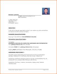 ing resume format template ing resume format