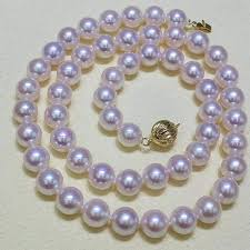 <b>Sinya</b> Akoya Pearls strand necklace with <b>18K Au750</b> gold clasp ...