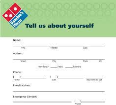 Domino     s Pizza Job Application   Printable Job Employment Forms Top Job Applications Domino     s Pizza Job Application