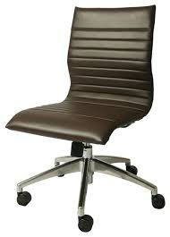 pastel janette armless office chair in espresso contemporary office chairs armless office chair wheels