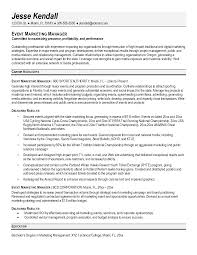sample resume for s and marketing manager