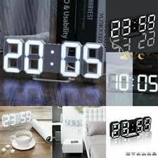 3D LED Digital Clock Table Wall Clock Electronic Alarm ... - Vova