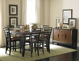 Two Toned Dining Room Sets Two Tone Finish Modern Counter Height Dining Table W Options