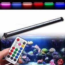55cm rgb <b>smd5050</b> rigid <b>led</b> strip light air bubble aquarium fish tank ...